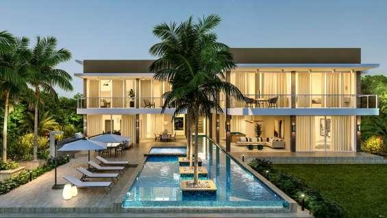 Villas turísticas en country club piscina en punta cana