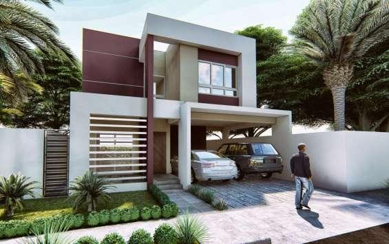 Proyecto casa san isidro - vista frontal