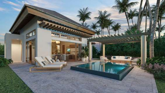 Oportunidad de villas en venta en cap cana / punta cana con piscina privada y terraza a 2